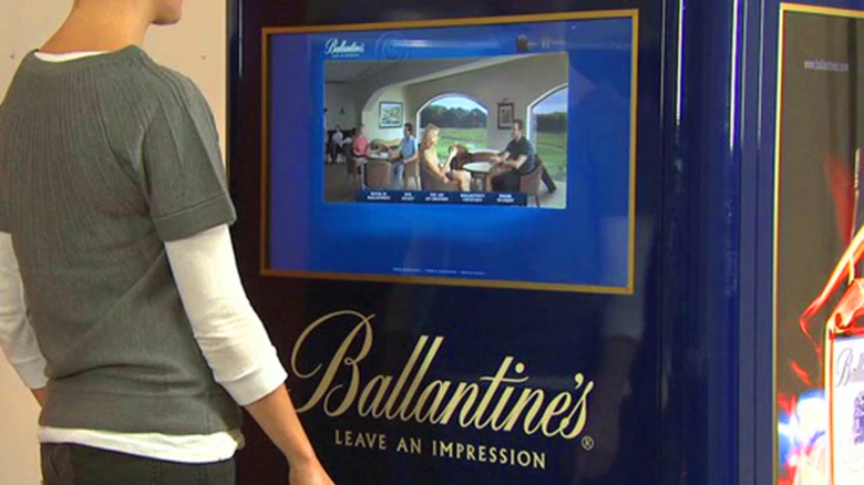 Touch screen kiosk for Ballantine