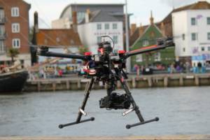 Aerial filming over Poole Harbour