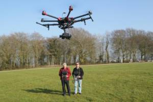 Professional drone with professional operators